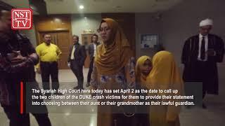 Syariah High Court sets April 2 for DUKE crash victims' kids to choose aunt or grandma as guardian
