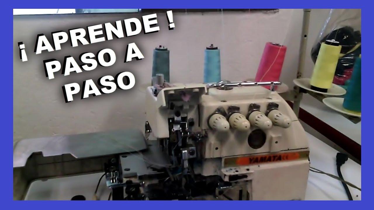 Como enhebrar una maquina OVERLOCK industrial | mecanica