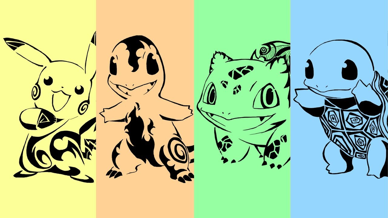 Requests #1 - Pokemon Tribal Tattoo: Gen 1 Starter. - YouTube