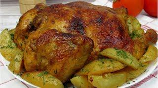 Вкусная и сочная курица с картошкой в духовке Так просто но так вкусно Вкусные идеи от Натали