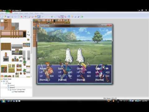 RPG Maker XP homemade game rough draft