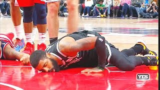 Kyrie Irving Scary Injury After Bradley Beal Falls On His Leg! Nets vs Wizards  2020 NBA Season