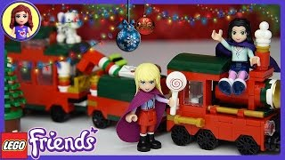 Lego Friends Christmas Lolly Train Set Build Review Play - Christmas - Kids Toys