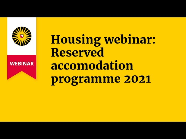 Housing webinar: Reserved accomodation programme 2021