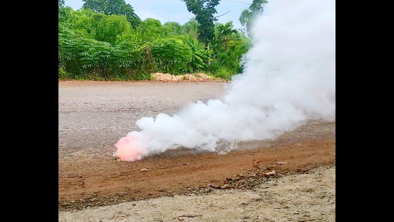 Đốt bom khói từ Kno3 cực chất
