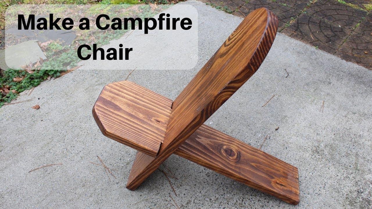 Make a Campfire Chair - YouTube