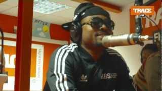 Machel MONTANO dans les studios de TRACE FM