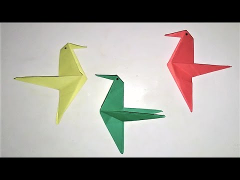 How To Make A Paper Bird Origami Easy Way To Make Paper Bird For