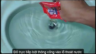 Thử dùng bột thông cống của Hàn Quốc