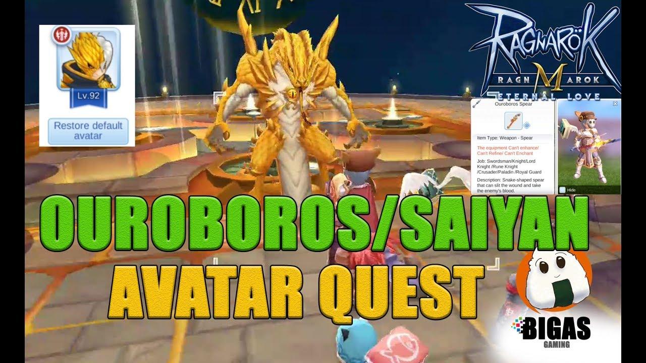 Hair Style Quest Ragnarok Mobile: Ouroboros Weapon Skin/Super Saiyan Looking Hair Avatar