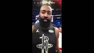 Odell Beckham Jr's NBA All-Star Instagram Story