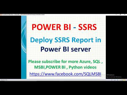 Deploy SSRS Report In Power BI Server   Integrating SSRS With Power BI   SSRS In Power BI