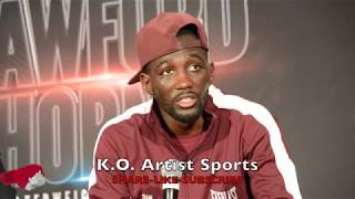 CRAWFORD CHECKS REPORTER WHO ASKS SPENCE QUESTION & HOW HE DO!