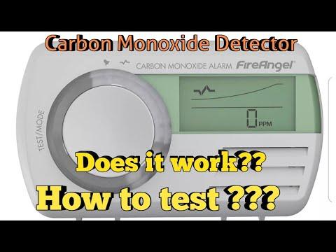 Carbon Monoxide Detector TEST