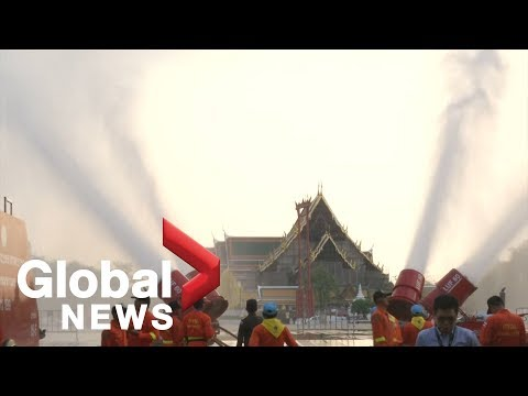 Bangkok uses water cannons to fight air pollution Mp3