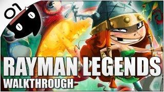 Rayman Legends 01 en Español (Con Cris) - Los heroes del paramo (Directo)