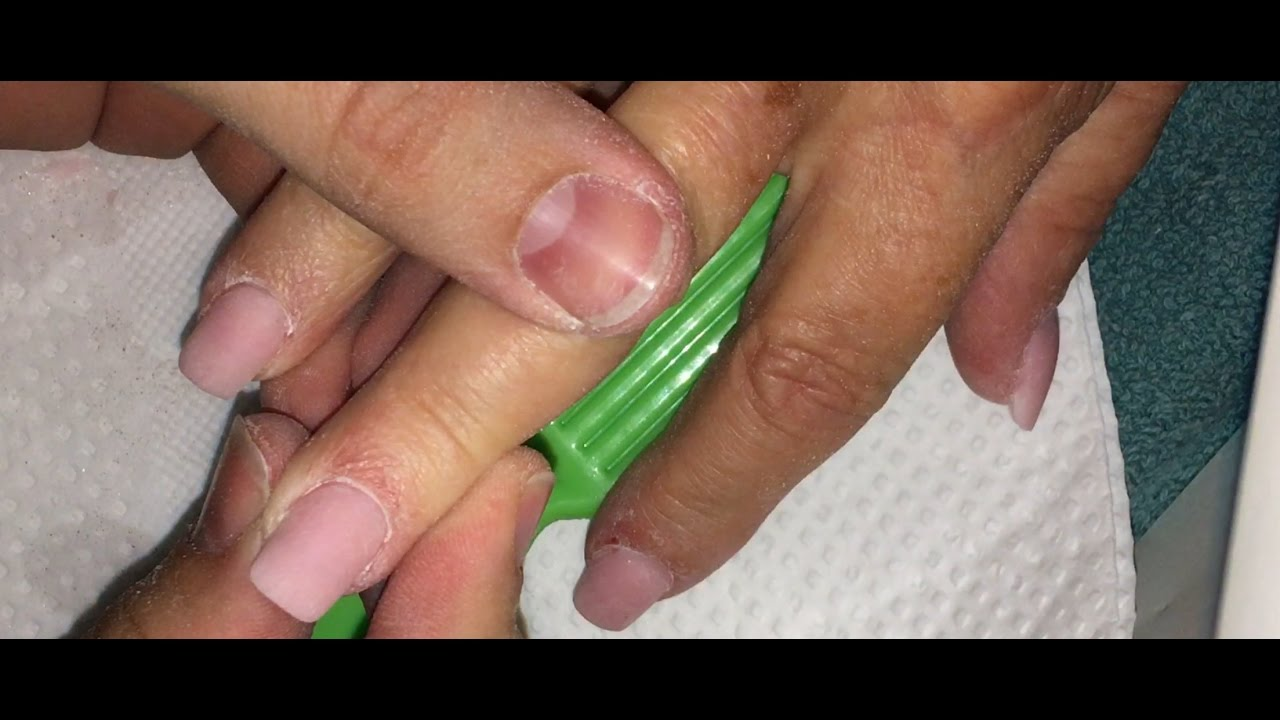 How to: Acrylic Nails with Tips Application - YouTube