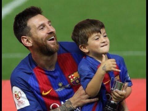 Thiago & Mateo Messi Celebrating Copa Del Rey Win ● FUNNY