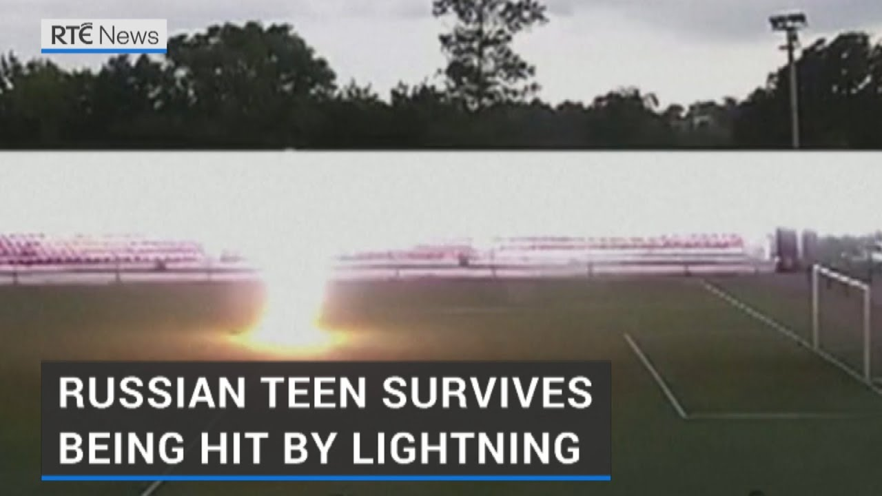 Russian teen hit by lightning back playing football weeks later