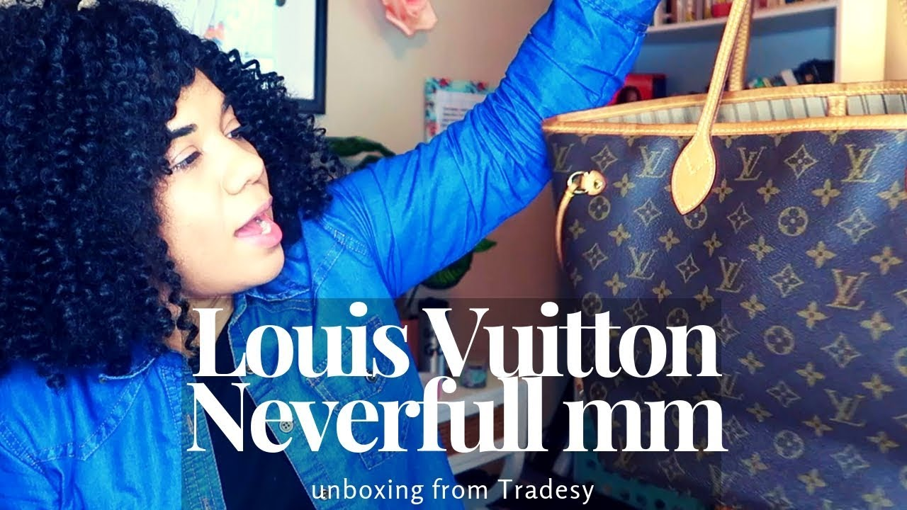 991d0f89ede0 LOUIS VUITTON UNBOXING AND REVIEW    NEVERFULL    Tradesy - YouTube