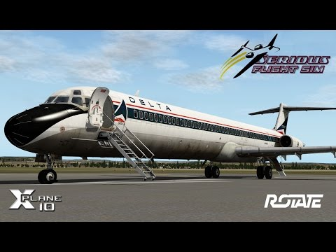 Rotate MD-80 | Engine Start and Flight Plan Tutorial (Detailed) | X-Plane 10 ᴴᴰ