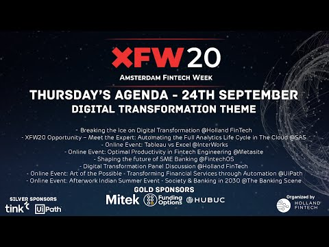Holland FinTech XFW20 Panel Discussion Digital Transformation