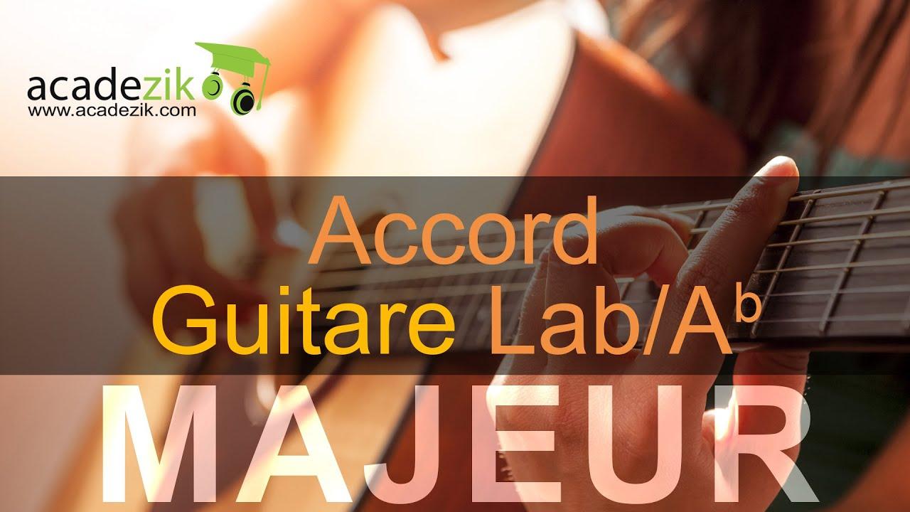 Accord guitare LA bémol Majeur - Ab chord (vidéo) - YouTube