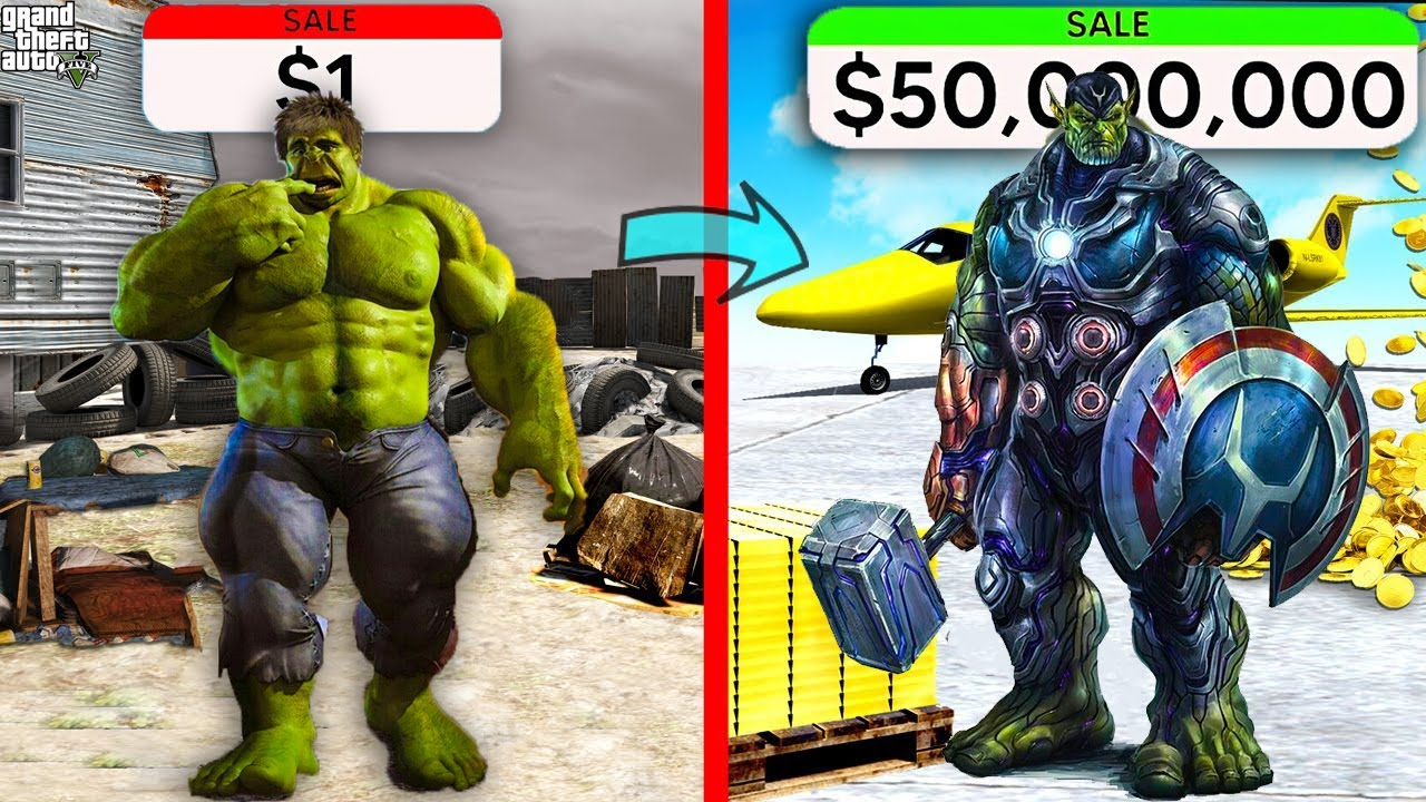 Download $1 HULK Vs $1,000,000 BLUE HULK In GTA 5 ll Varun the gamer 2.0
