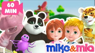 Eeny Meeny Miny Moe | Nursery Rhymes Collection | Children's Songs by Mike and Mia