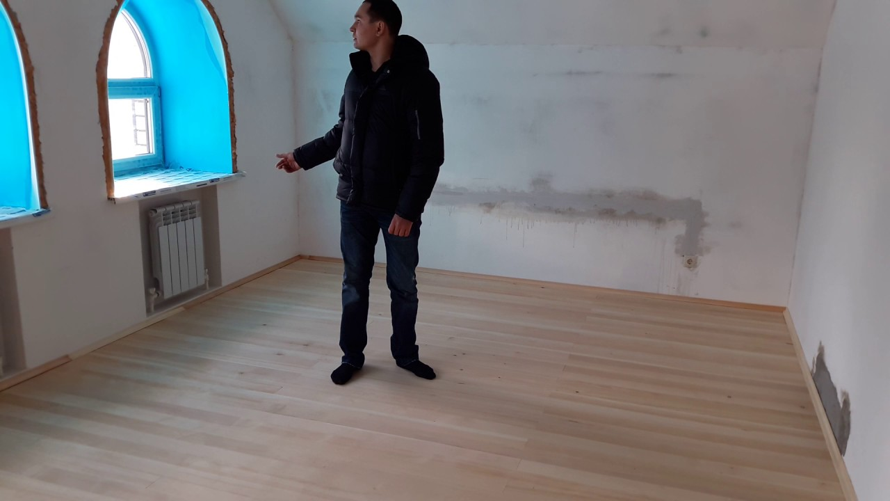 Серия 2. Заливка пола и штукатурка стен - YouTube