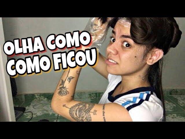 PINTEI O CABELO DE PRETO SOZINHA EM CASA!!! ADEUS LOIRINHO PIVETE