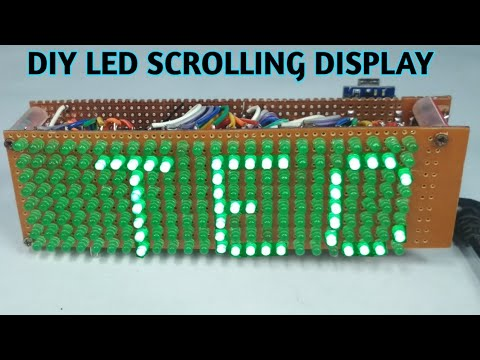 Diy scrolling text led display