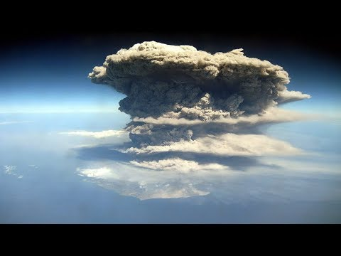 Mount Sinabung Volcano eruption Ash Cloud Due to Earthquake - Indonesia