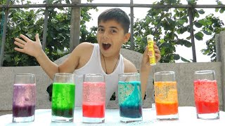 Guka  Does Lava Lamp Science Experiment and Learns colors