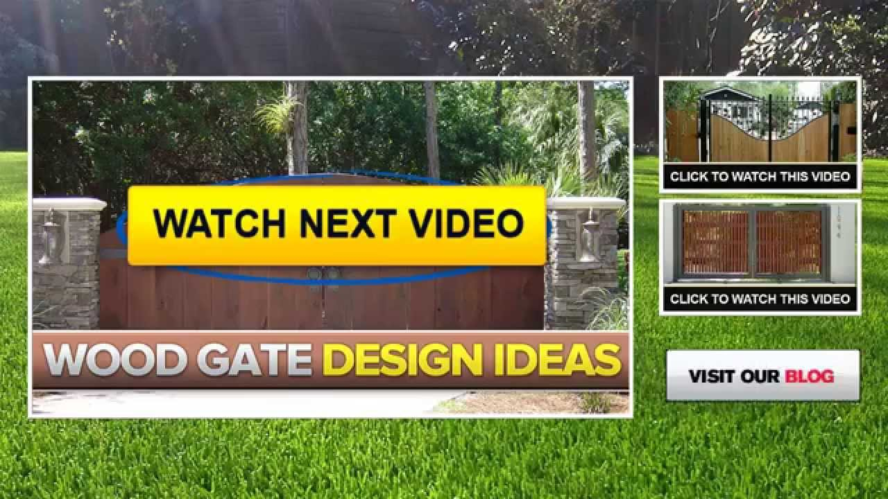 wood and iron gates wood fence panels wood fencing designs youtube