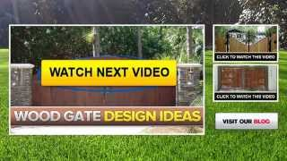 Wood And Iron Gates | Wood Fence Panels | Wood Fencing Designs