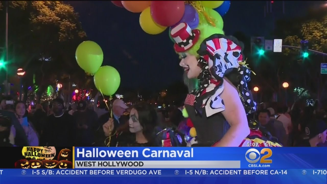 hundreds of thousands to pack west hollywood for halloween carnaval
