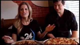 Pesto Pizza And Jerk Chicken Alfredo At Charlie's Homemade Pizza