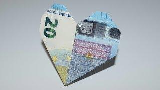 Money origami heart   Easy Valentine's heart. 💝❤