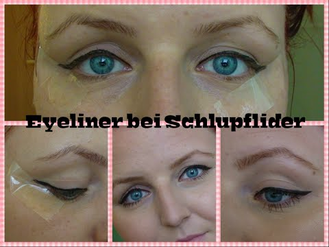 eyeliner ziehen bei schlupflider youtube. Black Bedroom Furniture Sets. Home Design Ideas