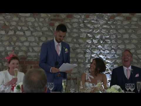 Groom Dedicates Wedding Speech to Favorite Soccer Player