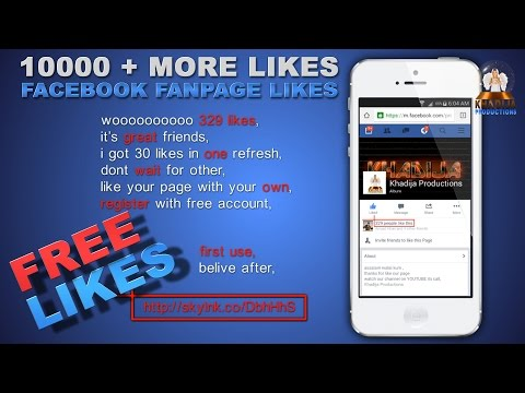 Facebook Fan Page 10000 + more real likes with your mobile 2015 mobile version khadija productions