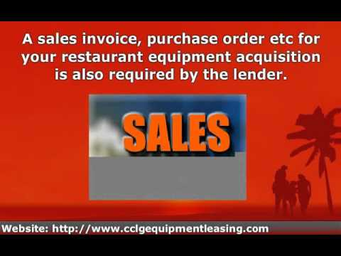 Restaurant Business Equipment Financing and Leasing, New and