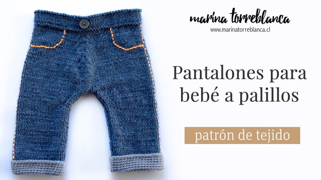 Pantalones Para Bebe A Palillos 3 Meses Patron De Tejido Youtube