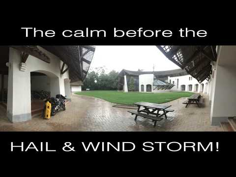 Unexpected Hail and Wind Storm in western Hungary, Europe