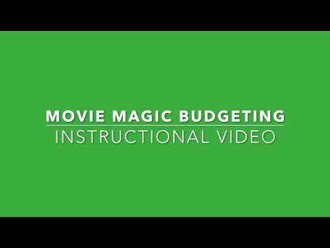 Week 4  - Movie Magic Budgeting - Part 1