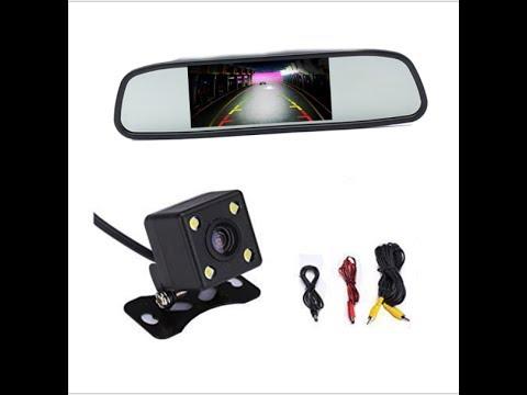 Как прикрепить камеру заднего вида к машине