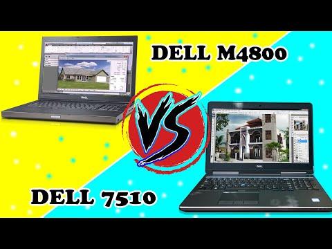 So Sánh Sức Mạnh Đồ Hoạ 3D Render Laptop Dell precision M4800 Và Dell Precision7510
