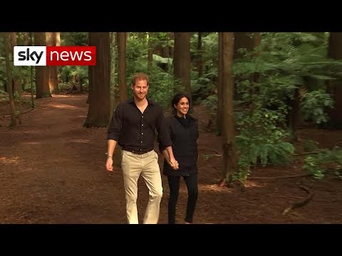 Prince Harry and Meghan visit New Zealand's North Island