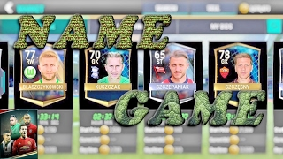 FIFA Mobile NAME GAME!!! DISCARDING ELITES?!? FUNNY PRONUNCIATION GAME! | FIFA Mobile Soccer